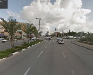 צומת הרחובות שד' הר ציון ודרך קיבוץ גלויות בתל אביב / צילום: גוגל מפות